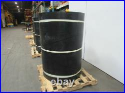 1/2 Thick 3-Ply Heavy Duty Black Smooth Rubber Conveyor Belt 220'L x 54W