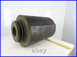 1/2 Thick 3-Ply Heavy Duty Black Smooth Rubber Conveyor Belt 40'L x 24-1/4W