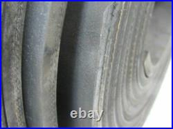 1/2 Thick 3-Ply Heavy Duty Black Smooth Rubber Conveyor Belt 40'L x 24W