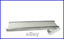 110V 47.2 X 7.8 White PVC Belt Conveyor Machine Electric Conveyor Platform New