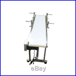 110V 60W 1.35m/53 PVC Electric Conveyor With Double Guardrail Speed Adjustable