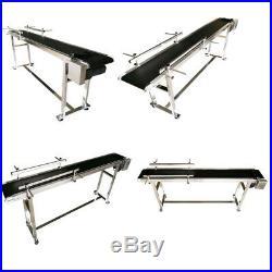 110V 70.8 X 7.8 X 29.5 Electric Packaging Conveyor Black PVC Belt Brand New