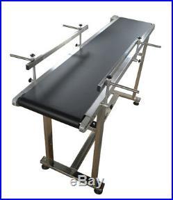 110V 90W Electric PVC Belt Conveyor Machine 59 Length 11.8 Width 0-28m/min New