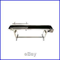 110V Electric 70.8 Length Packaging Conveyor Machine 29.5 Height PVC Belt New