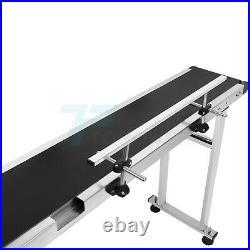 110V PVC Belt Conveyor With Stainless Steel Single Guardrail Adjustable Speed