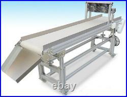 110V Packaging Machine White Belt Conveyor 59×11.8inch Conveyor Heat Resistant