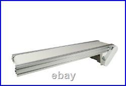 110V White PVC Belt Conveyor Mesa Transport Equipment 47.2''Long 7.8''Wide New