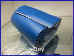 15-1/2 Wide, 26'-9 Long Vb2/blu/o Conveyor Belt Clipper Laced, V-guide Center