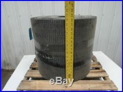 18 PVC Woven Back 1 Ply 1/4T Black Rubber Rough Top Incline Conveyor Belt 100