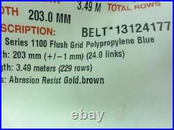 186086 Old-Stock, Intralox 13124177 Conveyor Belt, 3.49 M Length, 203mm Width