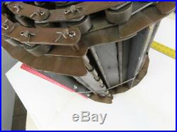2-1/2 Pitch 17 ID Steel Chip Conveyor Hinge Belt With Bar Cleats 12-1/2
