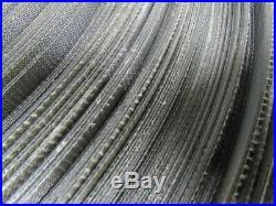 2-Ply Black Rubber Longitudinal Ribbed Conveyor Belt 608' X 12-7/8 X 0.097