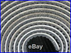 2-Ply Black Rubber Rough Top Incline Conveyor Belt 36' X 6-7/8 X 0.209