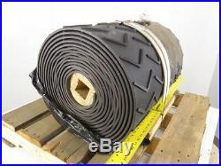 2 Ply Molded Rubber Chevron Incline Conveyor Belt 24W x 40'L x 0.250T