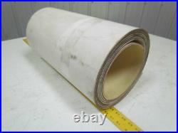 2 Ply Smooth Top Clear/White Urethane Rubber Conveyor Belt 16Ft X 20