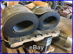 2 Rolls 18 3 Ply Conveyor Belting 47' and 51', New, Sand Gravel Gold Chips