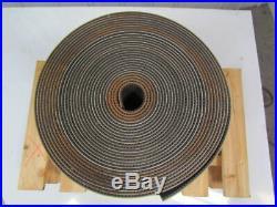 2 ply black PVC rubber rough top incline conveyor belt 65ft x 13-5/8