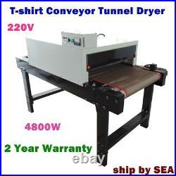 220V 4800W Conveyor Tunnel Dryer 25.6 x 5.9' Belt T-shirt Screen Printing SEA