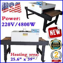 220V 4800W T-shirt Conveyor Tunnel Dryer 5.9ft. Long x 25.6 Belt Screen Print