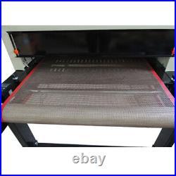 220V 4800W T-shirt Conveyor Tunnel Dryer 5.9ft. Longx25.6 Belt Screen Printing