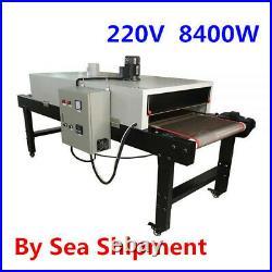 220V 8400W Conveyor Tunnel Dryer 9.8ft. Long x 25.6 Belt for Screen Printing