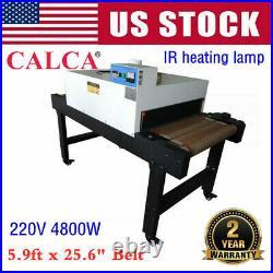 220V Small T-shirt Conveyor Tunnel Dryer 5.9ft x 25.6 Belt for Screen Printing