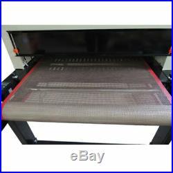 220V Small T-shirt Conveyor Tunnel Dryer conveyor dryer 5.9ft Long x 25.6 Belt