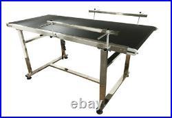 23.6 Belt Wide 59''Long PVC Conveyor System With Double Guardrails 0-18m/min