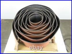2Ply PVC Interwoven Rough Back 18 x 30' Cleated Conveyor Belt 0.230 Thick