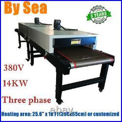 380V 14KW Conveyor Tunnel Dryer 13ft. Long x 25.6 Belt for Screen Printing