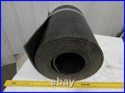 4-Ply Grade 1 Extreme Duty Black Smooth Rubber Conveyor Belt 1/2Tx34'Lx24W