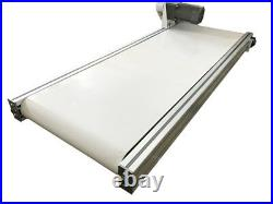 47x 15.7 Belt Conveyor White PVC Goods Transporter Production Line Table Type
