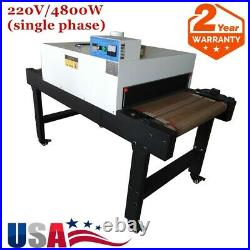 4800W 5.9ft. Long x25.6 Belt Conveyor Tunnel Dryer T-shirt Silk Screen Printing