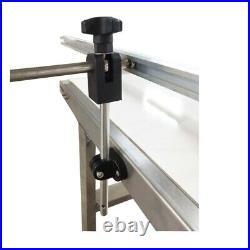 53'' Lentgh 11.8 Belt Width White PVC Conveyor With Double Guardrail 110v