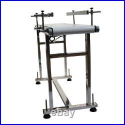 53 x 11.8 Food Grade Belt Conveyor Double Guardrail Adjustable Speed & Holder
