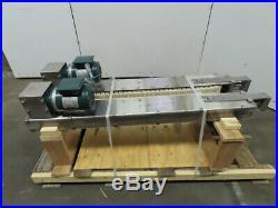 56 Hugger Belt Side Grip Bottomless Transfer Conveyor 63FPM 208-230/460V 3Ph