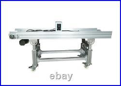 59 Flat Conveyor System Transport Equipment Height/ Speed Adjustable PU Belt