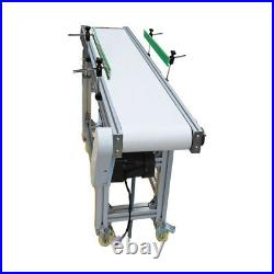 59 x 11.8 Belt Conveyor System Adjustable Height PVC Belt Double Guardrail