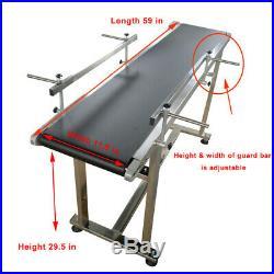 59 x 12 Belt Conveyer Double Guard Bar PVC Belt Commercial Transport Equipment