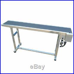 59 x 7.8 Belt Conveyor Black PVC Speed Adjustable 110V 60W Stainless Steel