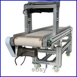 59'x11.8'' Electric Belt Conveyor Transfer Machine Heat Resistant Canvas Movable