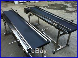 59''x7.8''Adjustable Conveyor Belt Stainless stell Black PVC Belt 1.50.3M in US