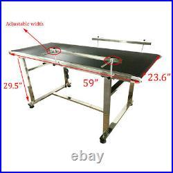 59x 23.6 Electric Belt Conveyor Packaging Machine Wider Belt Black PVC 250W