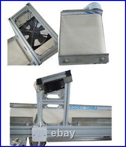 59x11.8'' Electric Belt Conveyor Heat Resistant Canvas Goods Transfer Machine