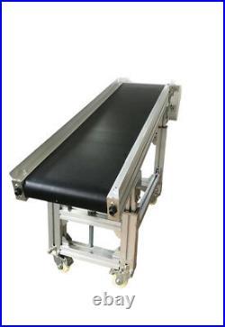 59x11.8 Electric Belt Conveyor Machine Oblique Type Flat PVC Conveyor 110V