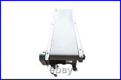 59x11.8 PVC Belt Conveyor Adjustable Height Aluminium Alloy Transportation