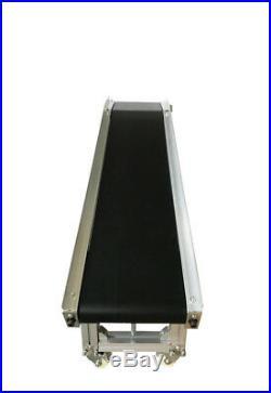 59x11.8 inch Electric Belt Conveyor Inclined Transport Machine Black PVC 120W