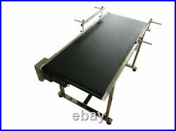 59x19 Electric Belt Conveyor with Two Guardrails Adjust Speed Transfer Machine