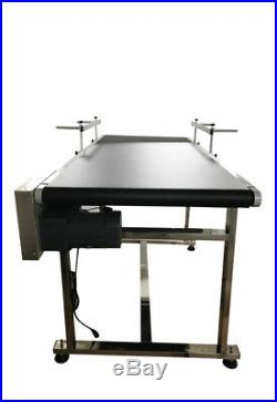 59x23.6 Belt Conveyor Wide Conveyor System Black PVC Pack Transportation Tool