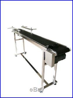 70.8'' Long 7.8'' Belt Width Conveyor 110V Powered Rubber PVC Belt Package